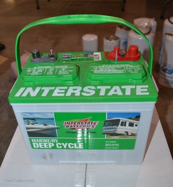 Gas Trailer deep cycle battery