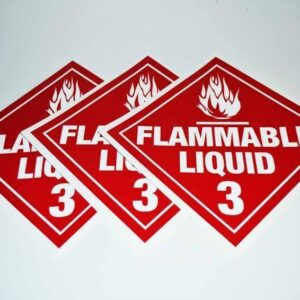 Flammable Liquid Decals