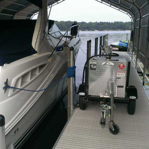 Gas Trailer dock & boat 2