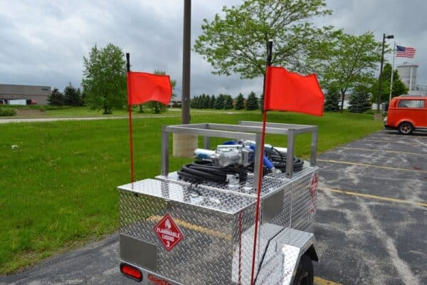Gas Trailer marker flags with led light 6