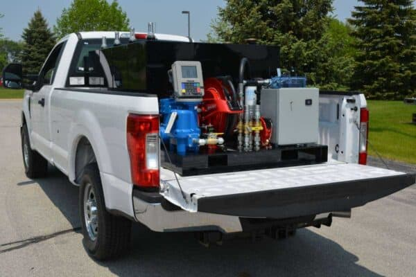 Gas Trailer Fuel Station 400 Skid in truck