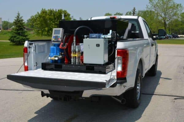 Gas Trailer Fuel Station 400 Skid pick up truck