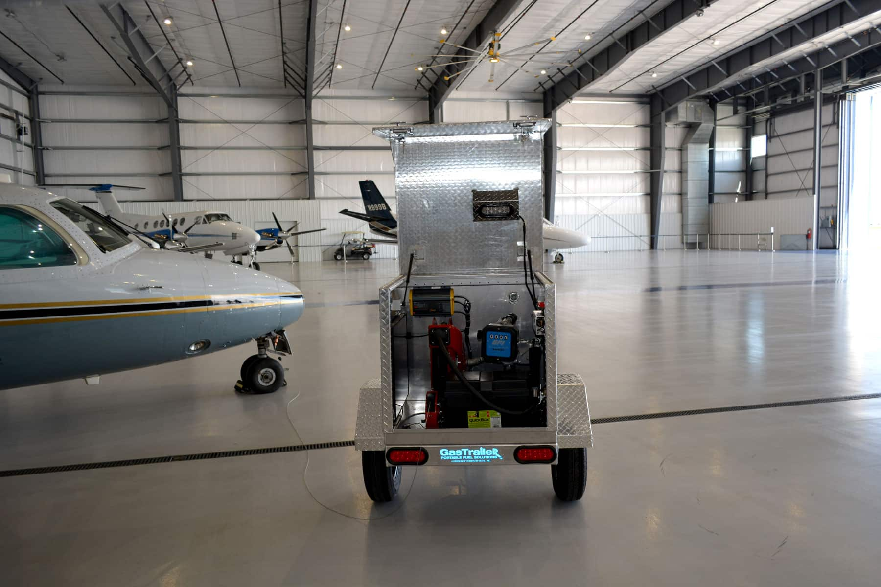 Robinson's portable fuel tank trailer brings gas where it's needed